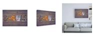 "Trademark Global Design Turnpike NY State Love Canvas Art - 19.5"" x 26"""