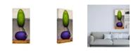 "Trademark Global Daniel Patrick Kessler Eggplant Bird Canvas Art - 19.5"" x 26"""
