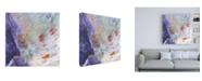 "Trademark Global Sheila Golden Purple Wind Abstract IV Canvas Art - 19.5"" x 26"""