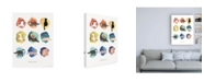 "Trademark Global Whiskers Studio Nine Lives Cats Canvas Art - 36.5"" x 48"""