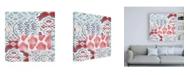 """Trademark Global Pela Studio Bazaar Patchwork III Canvas Art - 15.5"""" x 21"""""""