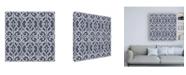 "Trademark Global Pela Studio Bazaar Patchwork Pattern IVB Canvas Art - 19.5"" x 26"""