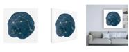 "Trademark Global Moira Hershey Horoscope Libra Canvas Art - 19.5"" x 26"""