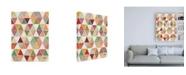 "Trademark Global Janelle Penner Spread the Love Pattern VIIA Canvas Art - 19.5"" x 26"""