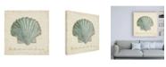 "Trademark Global Emily Adams Beach Treasures I Christmas Canvas Art - 15.5"" x 21"""