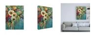 "Trademark Global Jeanette Vertentes Mod Floral Canvas Art - 36.5"" x 48"""