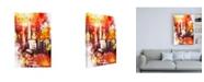 "Trademark Global Philippe Hugonnard NYC Watercolor Collection - Spotlight Canvas Art - 27"" x 33.5"""