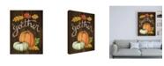 "Trademark Global Mary Urban Autumn Harvest III Walnut Canvas Art - 36.5"" x 48"""