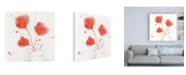 "Trademark Global Sheila Golden Trio in Carmine Canvas Art - 15.5"" x 21"""