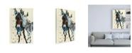 "Trademark Global Stephanie Aguila Lean in Canvas Art - 15.5"" x 21"""