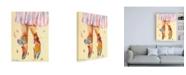 "Trademark Global Pamela K. Bee Ballet Slippers Canvas Art - 27"" x 33.5"""