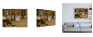 "Trademark Global Edgar Dega The Dancing Class Canvas Art - 27"" x 33.5"""