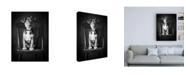 "Trademark Global Edward M. Fieldin Mutt Black and White Canvas Art - 19.5"" x 26"""