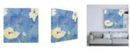 """Trademark Global Sheila Golde White Poppy Over Light Blue Canvas Art - 15.5"""" x 21"""""""