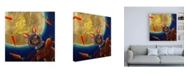 "Trademark Global Lucia Hefferna Journey to the Moon Canvas Art - 19.5"" x 26"""