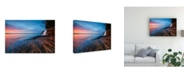 "Trademark Global John Fan Symphony of Sunset Canvas Art - 20"" x 25"""