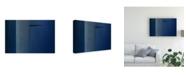 "Trademark Global Inge Schuster Blue Minimalism Or a Secret Door Canvas Art - 37"" x 49"""