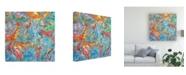 "Trademark Global Mark Lovejoy Abstract Splatters Lovejoy 3 Canvas Art - 15"" x 20"""