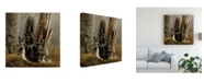 """Trademark Global Michael Budden White Throated Sparrows Canvas Art - 15"""" x 20"""""""