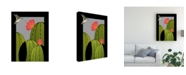 "Trademark Global Marie Sansone Hummingbird Cactus Canvas Art - 37"" x 49"""