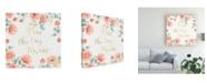 "Trademark Global Jenaya Jackson Blooming Delight IV White Canvas Art - 15"" x 20"""