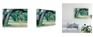 "Trademark Global Monte Nagler Louisiana Oaks Louisiana Canvas Art - 15"" x 20"""
