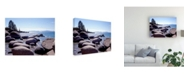 "Trademark Global Monte Nagler Sand Harbor Beach Lake Tahoe Nevada Canvas Art - 15"" x 20"""