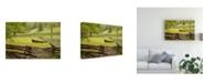 "Trademark Global Monte Nagler Canoe and Fence Canvas Art - 20"" x 25"""