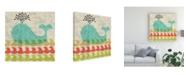"Trademark Global Chariklia Zarris Adas Whale Canvas Art - 20"" x 25"""