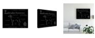 "Trademark Global Ethan Harper Blueprint Labrador Retriever Canvas Art - 15"" x 20"""