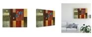 "Trademark Global Pablo Esteban Yellow Left, Blue Right Canvas Art - 15.5"" x 21"""
