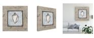"Trademark Global Pablo Esteban Shell on Blue Gray 2 Canvas Art - 15.5"" x 21"""