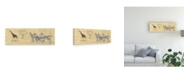 "Trademark Global Pablo Esteban Zebras Next to Giraffe Canvas Art - 27"" x 33.5"""
