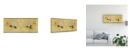 "Trademark Global Pablo Esteban Flowers in White Stencil Canvas Art - 36.5"" x 48"""
