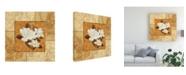 "Trademark Global Pablo Esteban Magnolia 1 Beige Canvas Art - 36.5"" x 48"""