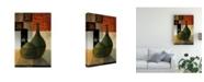 "Trademark Global Pablo Esteban Vases Over Geometry 4 Canvas Art - 19.5"" x 26"""