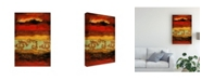 "Trademark Global Pablo Esteban Yellow Red Wave Pattern 4 Canvas Art - 19.5"" x 26"""