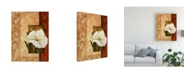 "Trademark Global Pablo Esteban White Floral Beige 1 Canvas Art - 36.5"" x 48"""