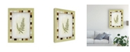"Trademark Global Pablo Esteban Fern Leaf Framed 2 Canvas Art - 19.5"" x 26"""