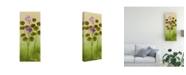 "Trademark Global Pablo Esteban Flowers Over Green Gradient 2 Canvas Art - 27"" x 33.5"""