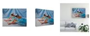 """Trademark Global Paul Walsh Ballet Blue Canvas Art - 19.5"""" x 26"""""""