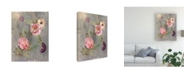 "Trademark Global Danhui Nai Peonies and Paisley Canvas Art - 19.5"" x 26"""