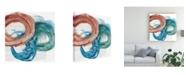 "Trademark Global Ethan Harper Overlapping Rings II Canvas Art - 15.5"" x 21"""