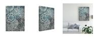 "Trademark Global Chariklia Zarris Floral Batik II Canvas Art - 27"" x 33.5"""