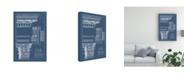"Trademark Global Vision Studio Column and Cornice Blueprint III Canvas Art - 27"" x 33.5"""