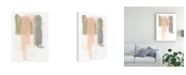 "Trademark Global June Erica Vess Blush Abstract IV Canvas Art - 15.5"" x 21"""