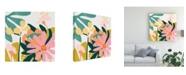 """Trademark Global June Erica Vess Cut Paper Garden I Canvas Art - 15.5"""" x 21"""""""