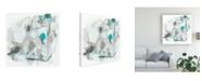 "Trademark Global June Erica Vess Blue Scramble I Canvas Art - 19.5"" x 26"""