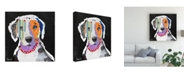 "Trademark Global Michel Keck Catahoula Leopard Canvas Art - 15.5"" x 21"""