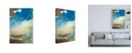 "Trademark Global Joyce Combs Earth and Sky I Canvas Art - 15.5"" x 21"""